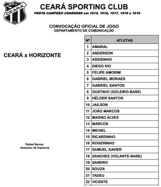 Relacionados Ceará x Horizonte