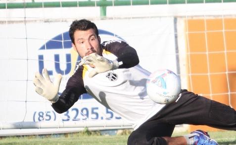 Goleiro Tiago está de volta ao Vozão (Foto: Cearasc.com/Divulgação)