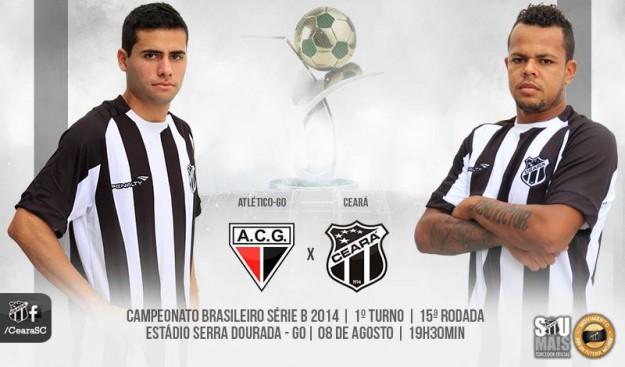 Atlético-GO x Ceará – Lá e cá (Imagem: Cearasc.com/Divulgação)