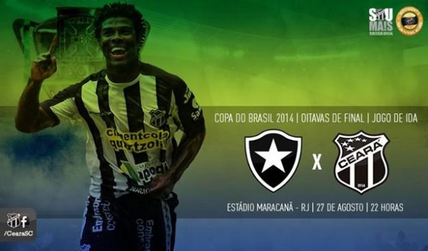 Botafogo x Ceará – Um olho cá e outro lá (Imagem: Cearasc.com/Divulgação)