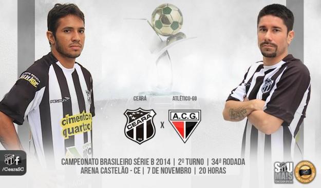 Ceará x Atlético-GO – Sem errar o alvo (Imagem: Cearasc.com/Divulação)
