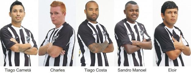 Cametá, Charles, Tiago Costa, Sandro Manoel e Eloir já oficializados (Foto: Cearasc.com/Divulgação)