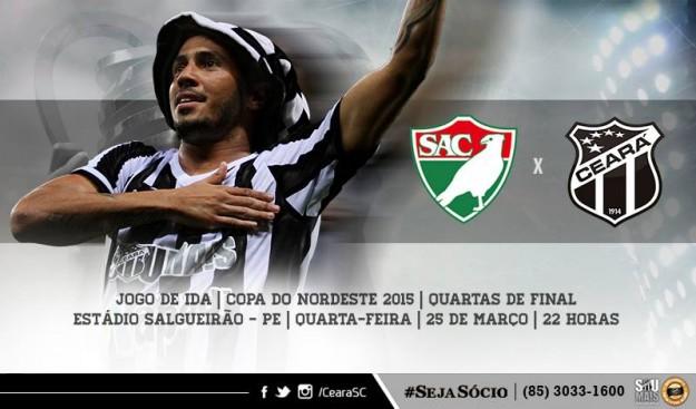 Salgueiro x Ceará – Sem dar chances ao azar (Imagem: CearaSC.com/Divulgação)