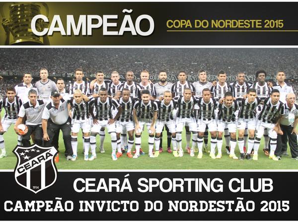 Ceará Sporting Club Campeão do Nordeste 2015 (Foto: CearaSC.com/Divulgação)