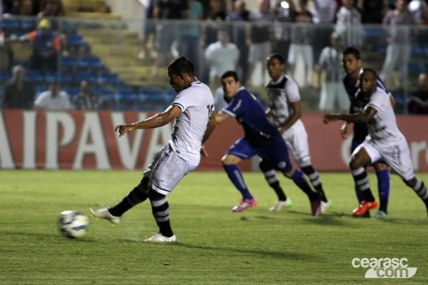 Marcos Aurélio marcou o gol que deu a classificação ao Vozão (Foto: Christian Alekson/CearaSC.com)