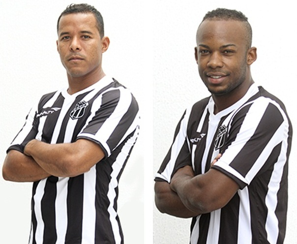 Marcos Aurélio (esq) e Wescley (dir) brigam pela vaga de Marinho (Foto: CearaSC.com/Divulgação)