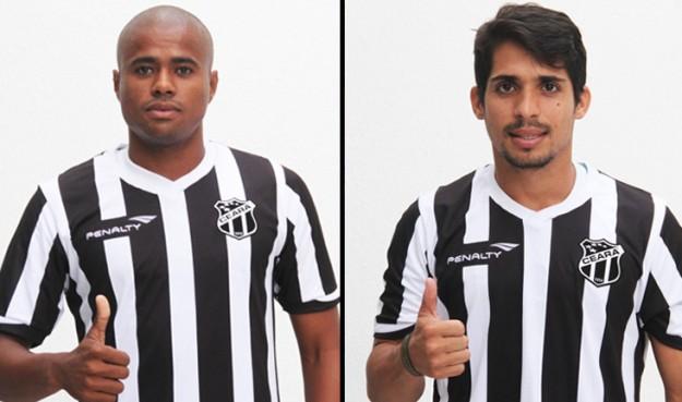 Eron (esq) e Roniery (dir) já treinam em Porangabuçu (Fotos: CearaSC.com/Divulgação)