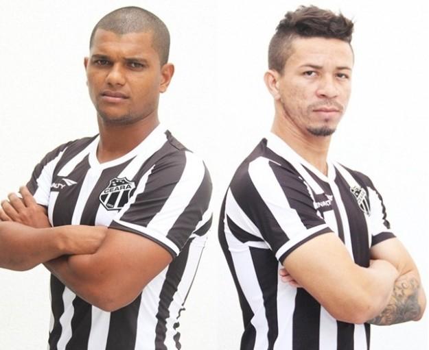 Muller Fernandes(dir) e Siloé (esq) são mais dois que chegam para o Vozão (Foto: CearaSC.com/Divulgação)