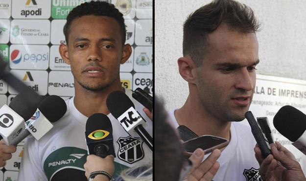 Ernandes (esq) e Thiago Carvalho (dir) chegam para o vozão (Christian Alekson/CearaSC.com)
