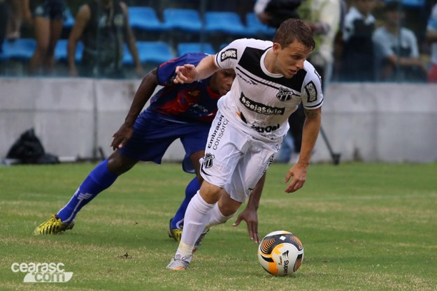 Alex Amado marcou o gol da vitória do Vozão (Foto: Christian Alekson/CearaSC.com)