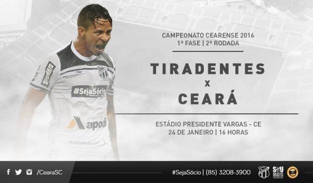 Tiradentes x Ceará – Vai começar a temporada (Imagem: CearaSC.com/Divulgação)
