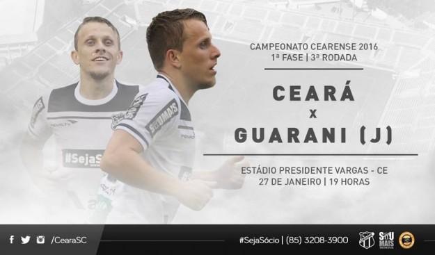 Ceará x Guarani – Dando sequência (Imagem: CearaSC.com/Divulgação)