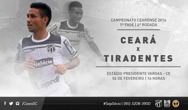Ceará x Tiradentes – Hora da revisão (Imagem: CearaSC.com/Divulgação)