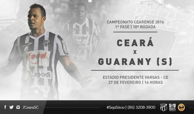 Ceará x Guarany – Afinando as peças (Imagem: CearaSC.com/Divulgação)