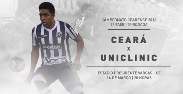 Ceará x Uniclinic – Jogo da recuperação (Imagem: CearaSC.com/Divulgação)