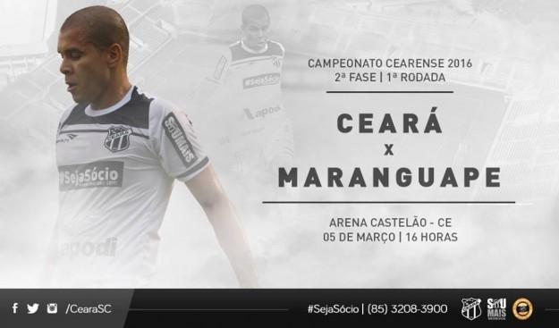 Ceará x Maranguape – Atenção redobrada (Imagem: CearaSC.com/Divulgação)