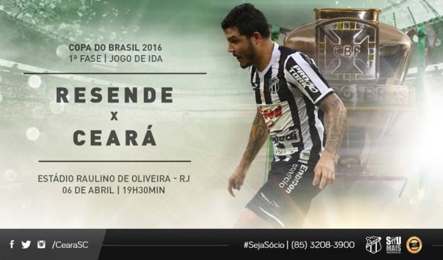 Resende x Ceará – Buscando alivio (Imagem: CearaSC.com/Divulgação)