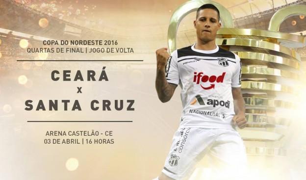 Ceará x Santa Cruz – Ao ataque (Imagem: CearaSC.com/Divulgação)