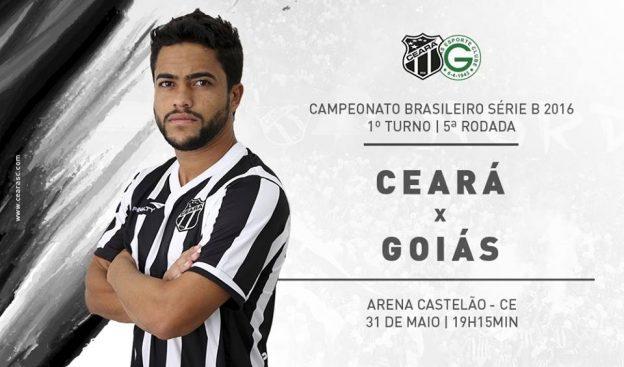 Ceará x Goiás – Sob pressão (Imagem: CearaSC.com/Divulgação)