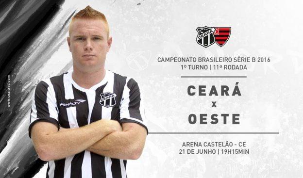 Ceará x Oeste – Sem deixar o ritmo cair (Imagem: CearaSC.com/Divulgação)