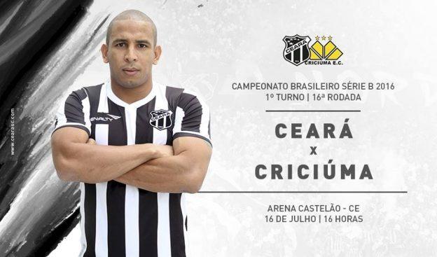 """Ceará x Criciúma – Jogo de """"seis pontos"""" (Imagem: CearaSC.com/Divulgação)"""
