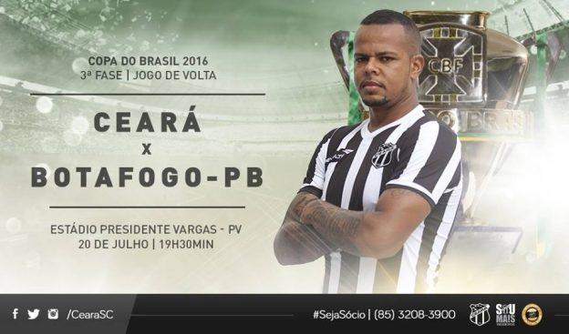 Ceará x Botafogo/PB – Jogo da superação (Imagem: CearaSC.com/Divulgação)
