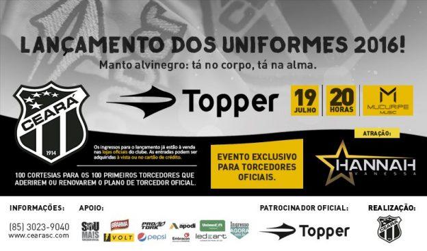 A estreia do novo manto está sendo prevista para o dia 20/07, diante do Botafogo-PB)