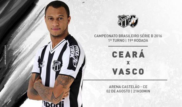 Ceará x Vasco – Sem perder a pegada (Imagem: CearaSc.com/Divulgação)