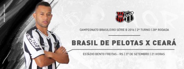 Brasil de Pelotas x Ceará – Jogar e ganhar (Imagem: CearaSC.com)