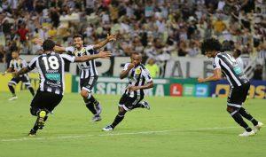 Gol de Wescley abriu caminho para a vitória (Foto: Christian Alekson/CearaSC.com)
