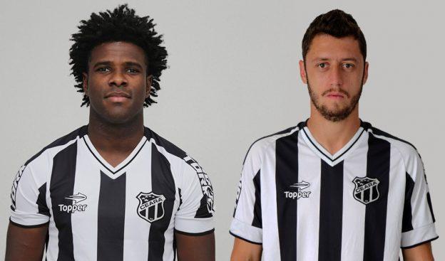 Zagueiro Sandro e meia Felipe Menezes renovaram contrato (Foto: Christian Alekson/CearaSC.com)