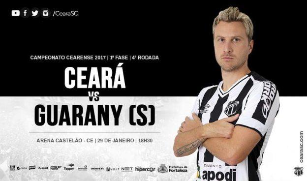 Ceará x Guarany – Mais uma tentativa ( Imagem: CearaSC.com/Divulgação)