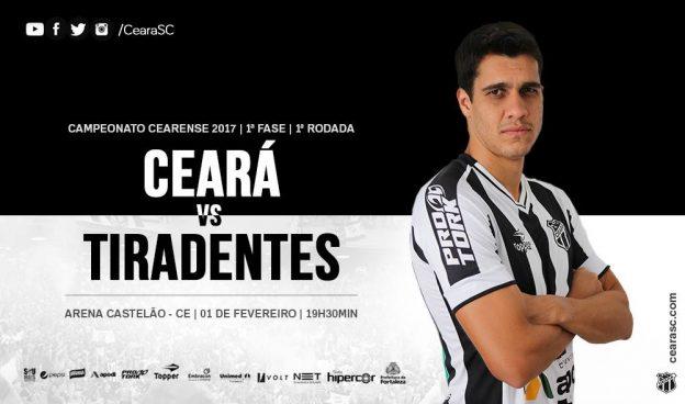 Ceará x Tiradentes – Valendo liderança (Imagem: CearaSC.com)