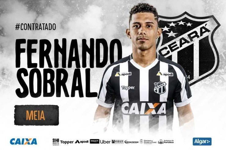 ad8da32e4b Fernando Sobral é o oitavo jogador contratado pelo Vozão para 2019. (Foto   Cearasc.com Divulgação)