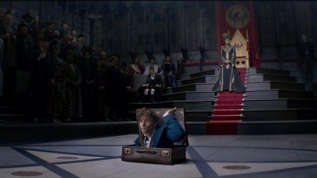 Newt e sua mala, digamos, ampla