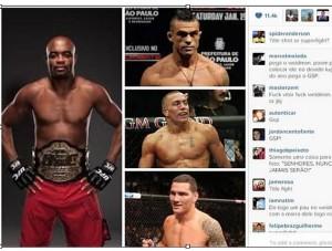 Lista de Anderson Silva publicada no Instagram