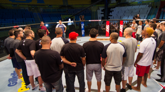 Ao todo, 14 lutadores lutam pelo sonho de assinar um contrato com o UFC. Foto: UFC/Divulgação