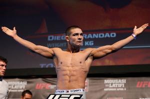 Diego Brandão foi cortado do UFC em abril do ano passado. Foto: UFC/Divulgação