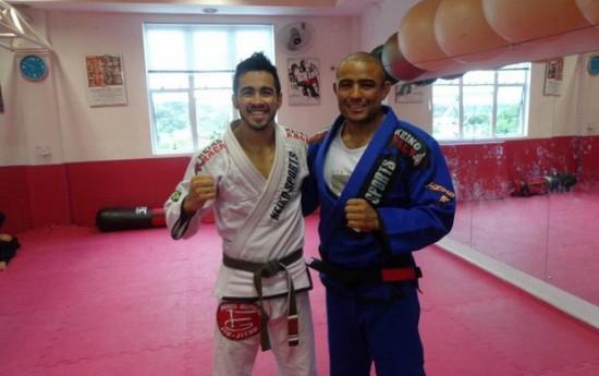 Em Curitiba, Pepey afiará o seu jiu-jitsu com Serginho Moraes, ex-colega de TUF Brasil. Foto: Divulgação