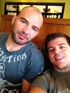 Amigos, Caio e Glover se conheceram em 2009 e são parceiros de treino. Foto: Arquivo Pessoal