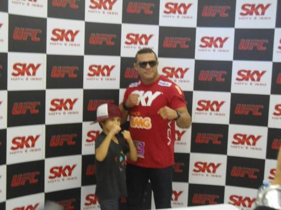 Vitor Belfort e o filho Davi