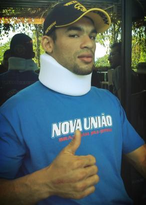 Markes divulga foto após acidente Foto: Divulgação