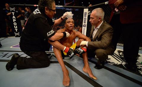Imagem de Anderson após a derrota. Foto: UFC/Divulgação