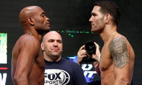 Faltam 10 dias para a luta entre Chris Weidman e Anderson Silva, no UFC 168 Foto: UFC/Divulgação