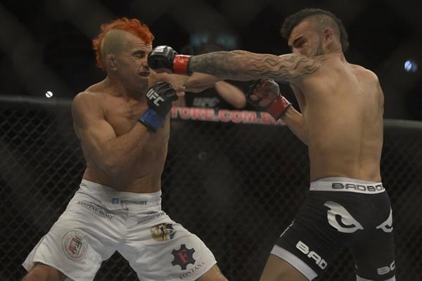 """""""Sem Chance"""" foi derrotado na sua estreia como lutador do UFC. Divulgação / UFC"""