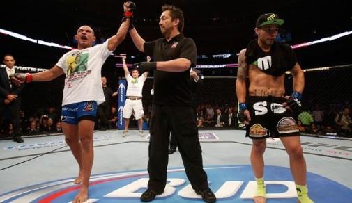 Diego venceu por decisão unânime dos juízes. Foto: UFC/Divulgação
