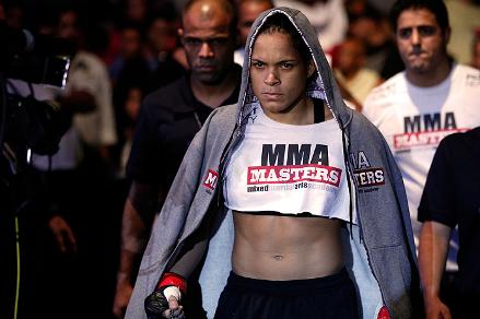 Amanda venceu em sua estreia no UFC: Foto: UFC/Divulgação
