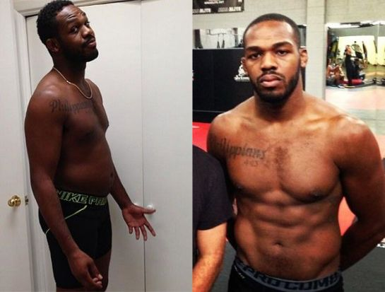 Antes e depois de Jon Jones