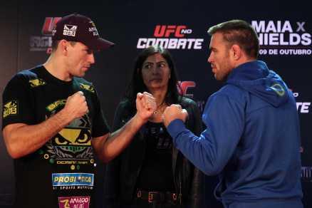 Deminan e Shields frente a frente. Foto: GASPAR NOBREGA/INOVAFOTO/UFC