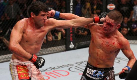 Melendez e Sanchez fizeram uma das melhores lutas da história do UFC. Foto: UFC/Divulgação
